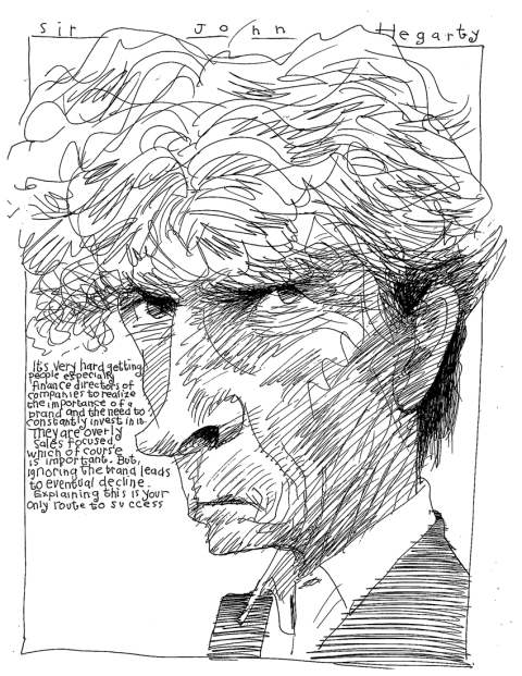 """Sir John Hegarty, Founder of BBH, Member of the Advertising Hall of Fame, and author of """"Hegarty on Advertising"""""""